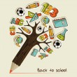 Royalty-Free Stock Vectorafbeeldingen: Back to School pencil tree