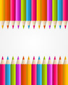 Rainbow colorful pencils banner pattern — Stock Vector