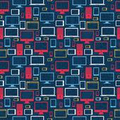 Computer pictogrammen naadloze patroon — Stockvector