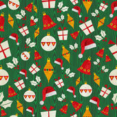 Christmas icons pattern — Stock Vector