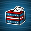 USA elections ballot box — Stock Vector