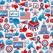 USA elections icons pattern - Stock Vector