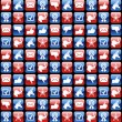 Stock Vector: USA elections glossy internet icons pattern