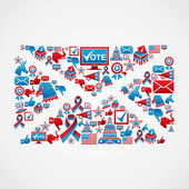 US election icons mail shape — Stock Vector