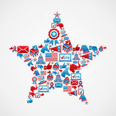US elections icons star shape — Stock Vector