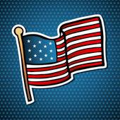 USA cartoon flag — Stock Vector