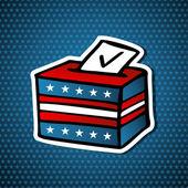 USA elections ballot box — Stock Vector