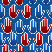 USA elections hand pattern — Stock Vector