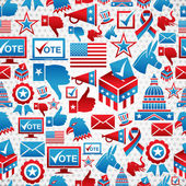 USA elections icons pattern — Stock Vector
