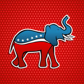 USA elections Republican party elephant emblem — Stock Vector