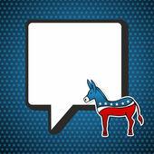 USA elections: Democratic politic message — Stock Vector