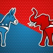 USA elections Democratic vs Republican party — Stock Vector
