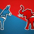 USA elections Democratic vs Republican party — Stock Vector
