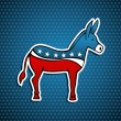 USA elections Democratic Party donkey emblem — Vector de stock #13505796