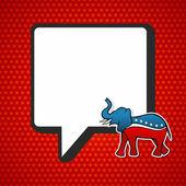 USA elections: Republican politic message — Stock Vector