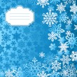Blue Christmas snowflakes background greeting card — Imagen vectorial