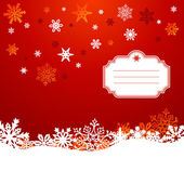 Christmas snowflakes greeting card background — Stock Vector