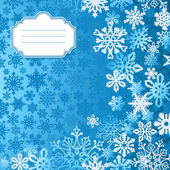 Blue Christmas snowflakes background greeting card — Stock Vector