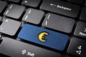 Make money with internet euro zone — Stock Photo