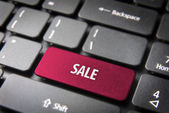 Online shopping sale business background — Stock Photo