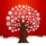 Christmas winter tree background — Stock Vector #14137441
