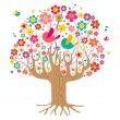 Royalty-Free Stock Vector Image: Isolated spring time tree
