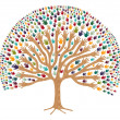 Isolated Diversity Tree hands — Stock Vector #14137340