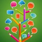Educative Social media tree — Stock Vector