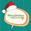 Retro wooden Christmas sale set - Imagens vectoriais em stock
