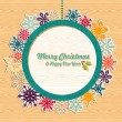 Royalty-Free Stock Vector Image: Retro wooden Christmas bauble banner