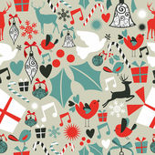 Christmas icons seamless pattern — Stock Vector