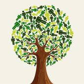 Eco przyjazny drzewo — Wektor stockowy