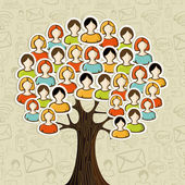 Social media networks tree — Stock Vector
