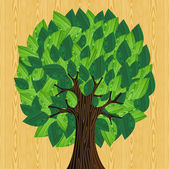 Eco friendly concept tree — Stock Vector