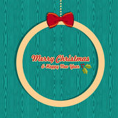 Retro Christmas greeting card — Stock Vector