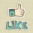 I Like thumb up icon — Stock Vector