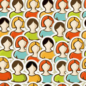 Diversity pattern background — Stock Vector
