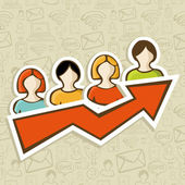 Web marketing campaign success concept — Stock Vector