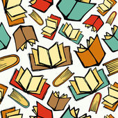 Back to School books pattern — Stock Vector