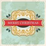 Merry christmas retro sign — Stock Vector #14886081