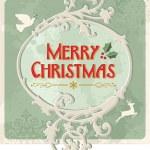 Merry christmas retro sign — Stock Vector