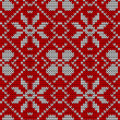 Vintage Christmas knitted pattern — Stock Vector