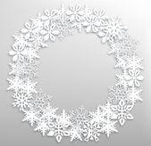 Christmas snowflakes wreath — Stock Vector