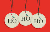 Christmas hang tags sale set — Stock Vector