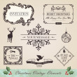 Vintage christmas elements set — Vector de stock #15780503
