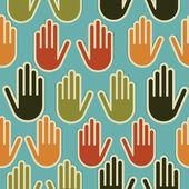 Diversity hands seamless pattern — Stock Vector