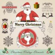 Vintage christmas elements set — Stock Vector #15794101