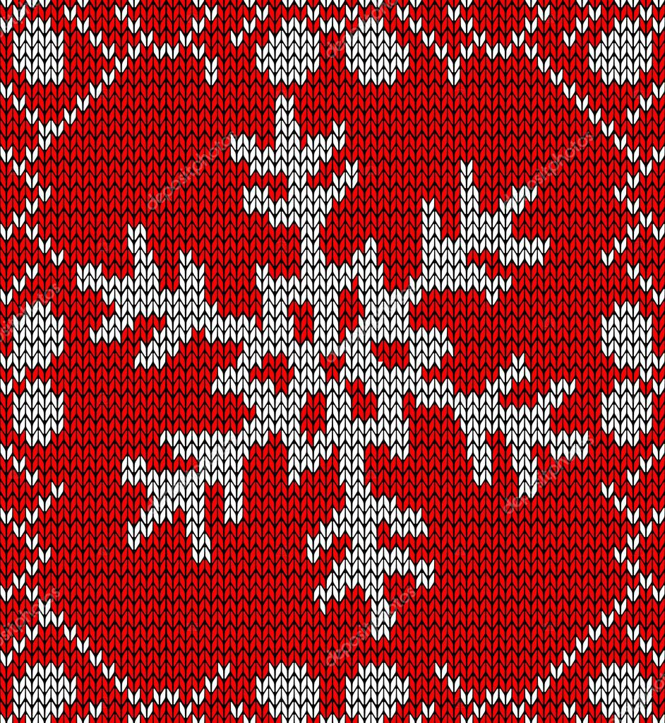 Knitted Snowflake Patterns : Christmas snowflake knitting pattern   Stock Vector ? cienpies #15796417