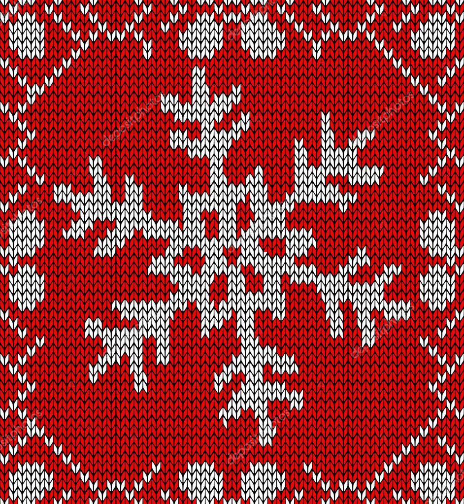 Knit Pattern Christmas Vector : Christmas snowflake knitting pattern   Stock Vector ? cienpies #15796417