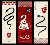 Año nuevo chino de la serpiente — Vector de stock